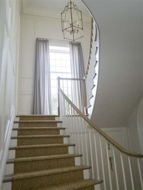 Staircase Window Ideas Seagrass Runner Wainscoting Window Draperies Phoebe Howard Stairways Pinterest