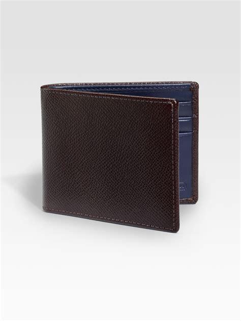 Coach Slim Wallet 1 coach dress textured slim billfold wallet in brown for chestnut lyst