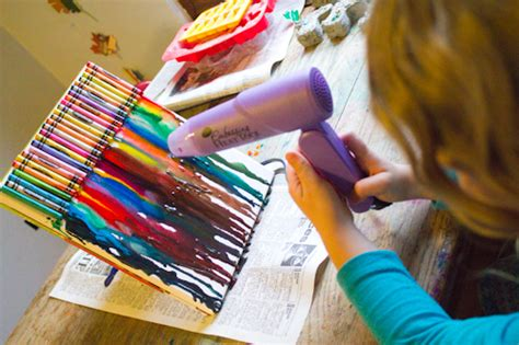 upcycled crayon crafts crafting  green world
