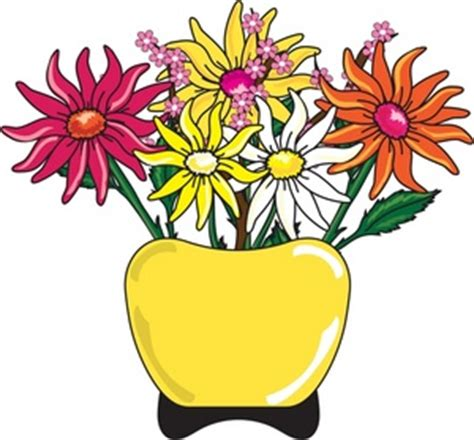 Clipart Flowers In Vase by Live Flower Clipart