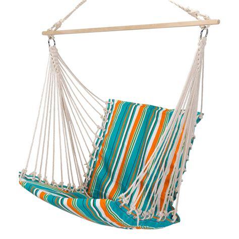 single hammock swing citrus stripe single cushioned hammock swing chair dfohome