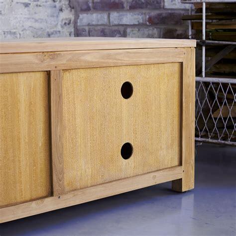 plasma tv furniture patio teak tv stand sale at tikamoon