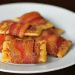 bacon wrapped crackers appetizers pinterest