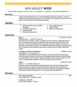 Food And Beverage Resume Sle by Starbucks Corp Resume Exles Starbucks Corp Resume Templates Livecareer