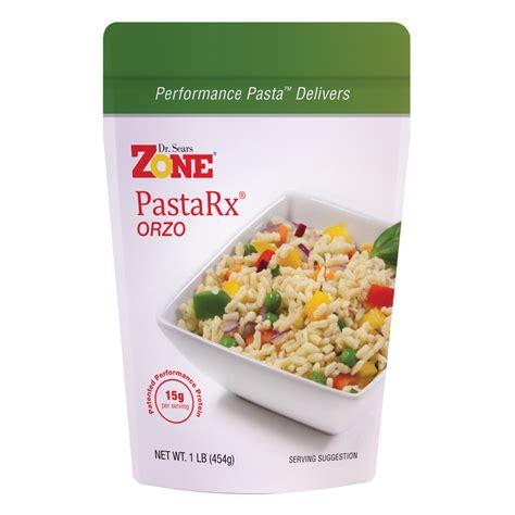 protein pasta dr sears zone pastarx orzo high protein pasta