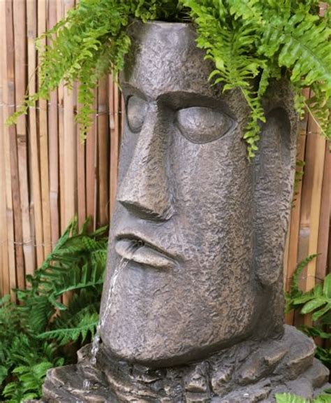 Easter Island Planter by Easter Island Solar Water And Planter With