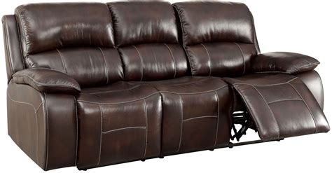 furniture brown leather reclining sofa ruth brown leather reclining sofa from furniture of