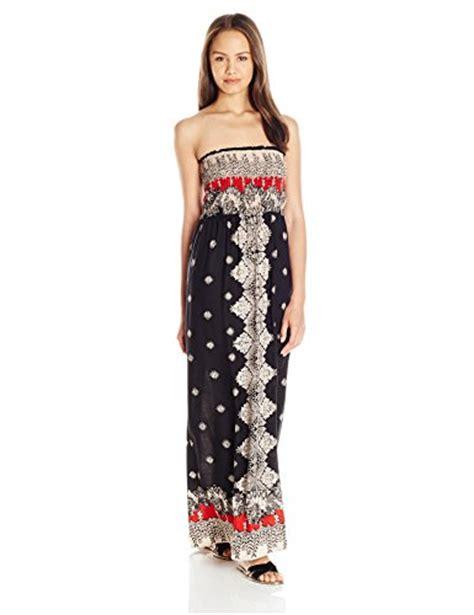 Dress Lengan Size M angie s printed smocked bodice maxi dress black sizes s m l new ebay
