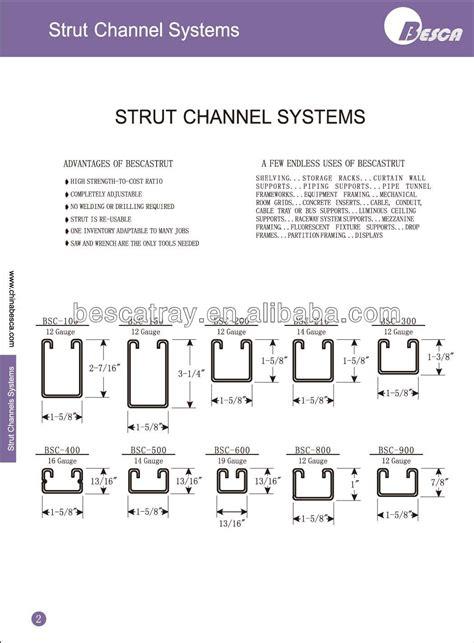 Wrench Light Gi C Channel Buy Steel Strut Channel Steel Channel Sizes
