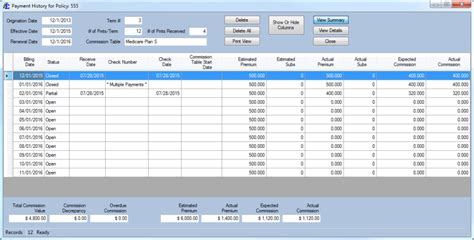 Commission Tracking Spreadsheet by Commission Tracker For Insurance Reviews And Pricing 2018