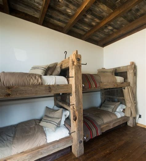 Barnwood Bunk Bed Timber Bunk Beds The Ladder Is Telephone Steps Built By Made Cabinets Lakeville