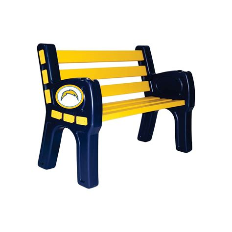 San Diego Chargers Bar Stool by Los Angeles Chargers Park Bench