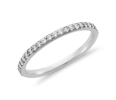 pav 233 eternity ring in 18k white gold 1 2 ct tw