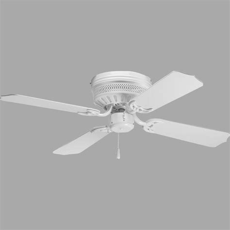 42 White Ceiling Fan With Light Progress Lighting Airpro Hugger 42 In White Ceiling Fan P2524 30 The Home Depot