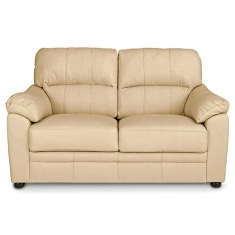 Buy Valencia Small 2 Seater Leather Sofa Cream From Our
