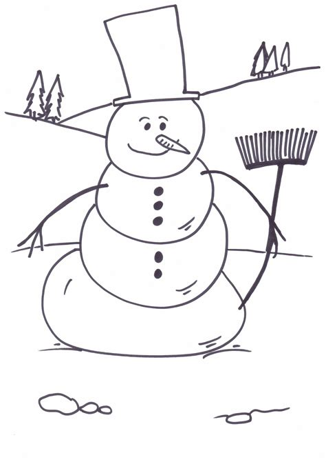 Free Coloring Pages Of Snowman Free Printable Snowman Coloring Pages