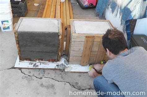 how to make a concrete bench homemade modern ep57 outdoor concrete bench