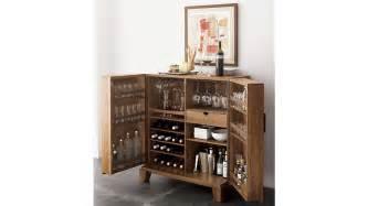 compact bar cabinet marin bar cabinet crate and barrel