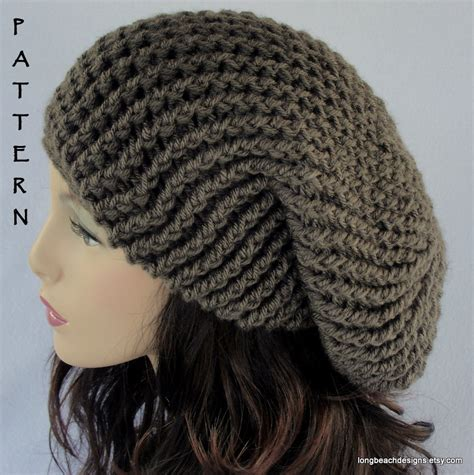 pattern crochet beanie crochet hat pattern slouchy hat pattern by longbeachdesigns