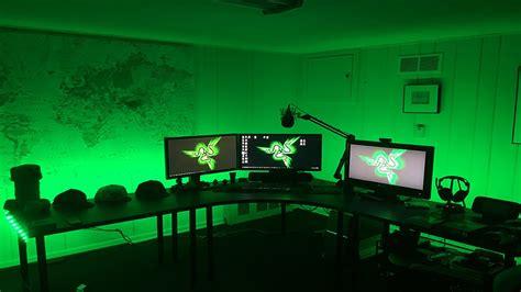 desk for gaming setup best gaming setup desk setup tour 2016