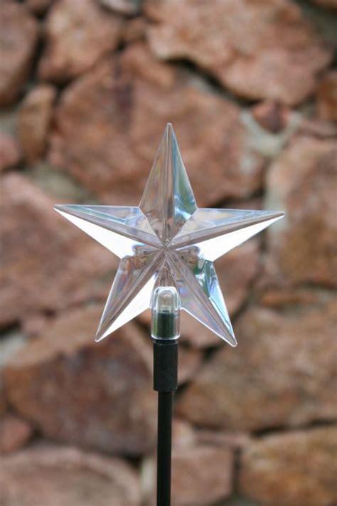 point star solar stake light yardbright landscape