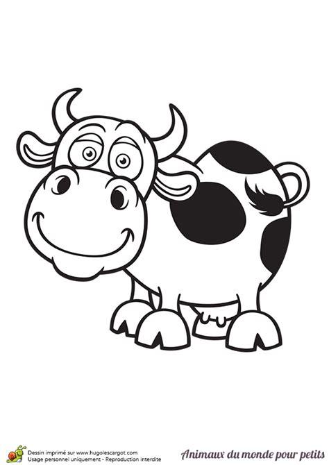 Coloriage D Une Petite Vache Hugolescargot Com Coloriage Animaux Jungle Imprimer L