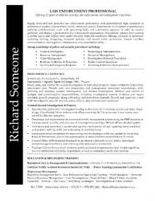 Enforcement Resume Template by Enforcement Resume Skills Resume Sles