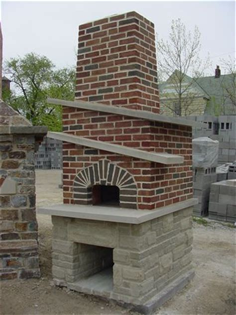brick and stone oven with brick chimney superior clay