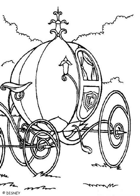 pumpkin carriage coloring page disegni di cenerentola da stare e colorare
