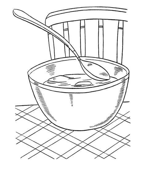 free coloring pages of soup bowl