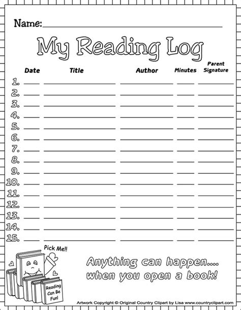 4th grade reading log template 20 best reading log templates free premium templates
