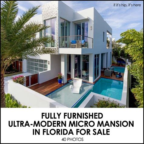 Ultra Modern Home Plans a modern micro mansion in florida by frank mckinney