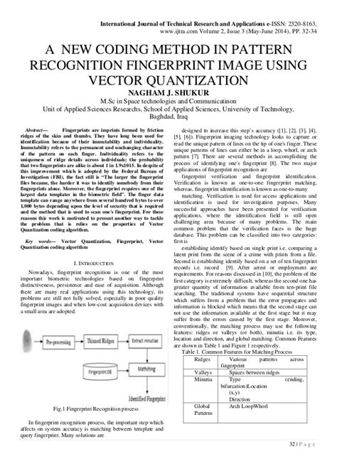 pattern recognition and learning vector quantization a new coding method in pattern recognition fingerprint