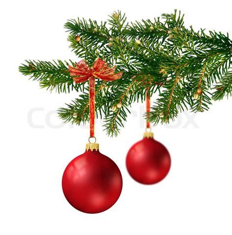 zwei satin rot glaskugeln h 228 ngen an gr 252 nen weihnachtsbaum