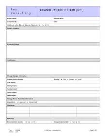 change request form template best photos of project request form exle project