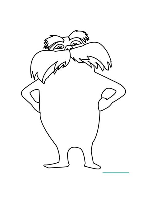lorax template lorax coloring pages school april
