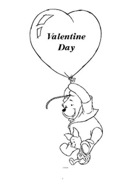 winnie  pooh valentines coloring pages