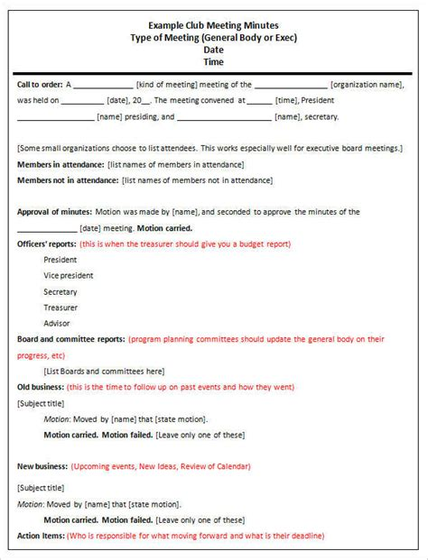 template for minutes of meeting document meeting minutes template free word form excel pdf