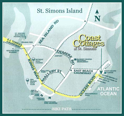 st island map rentals llc sea island and st simons