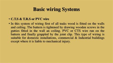 different types of electrical wiring system ideas