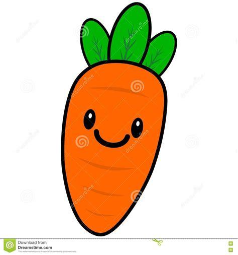 imagenes de zanahorias kawaii zanahoria de kawaii ilustraci 243 n del vector imagen 72945773