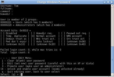 reset windows password with ubcd how to reset forgotten windows password with ultimate boot