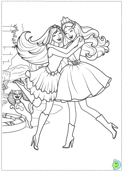 princess barbie coloring page az coloring pages