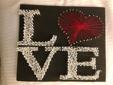 heart pattern string art love with a red pattern heart string art