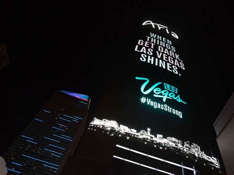 lights for shooting las vegas lights dim in tribute to shooting victims