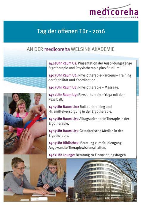 Bewerbung Hochschule Niederrhein Ergotherapie Physiotherapie Ausbildung Studium Seite 9 Staatlich Anerkannte Fachschulen