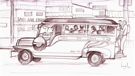jeepney philippines drawing jeepney by hazelnut nyc on deviantart