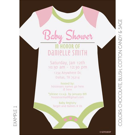 Onesie Baby Shower by Onesie Baby Shower Invitation Kateogroup