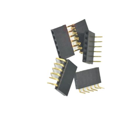 1x20pin Header Right Angle Single Row Socket 2 54mm Pitch 2 54mm pitch 1x6pin header right angle single row