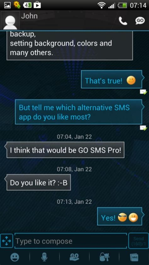 text themes for androids best sms app for android